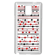 Dots and lines Samsung Galaxy Note 4 Case (White)
