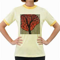 Decorative tree 1 Women s Fitted Ringer T-Shirts