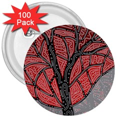 Decorative tree 1 3  Buttons (100 pack)