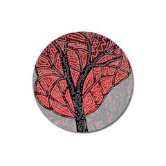 Decorative tree 1 Magnet 3  (Round)