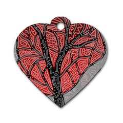 Decorative tree 1 Dog Tag Heart (Two Sides)