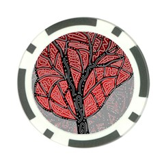 Decorative tree 1 Poker Chip Card Guards (10 pack)
