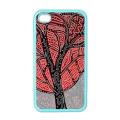Decorative tree 1 Apple iPhone 4 Case (Color)