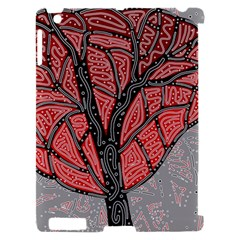 Decorative tree 1 Apple iPad 2 Hardshell Case (Compatible with Smart Cover)