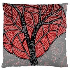 Decorative tree 1 Large Cushion Case (One Side)