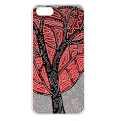 Decorative tree 1 Apple iPhone 5 Seamless Case (White)
