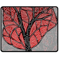 Decorative tree 1 Double Sided Fleece Blanket (Medium)
