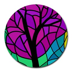 Decorative tree 2 Round Mousepads