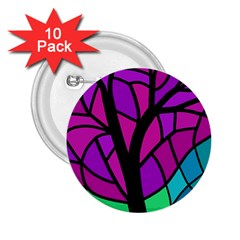 Decorative tree 2 2.25  Buttons (10 pack)