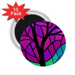 Decorative tree 2 2.25  Magnets (10 pack)