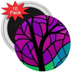 Decorative tree 2 3  Magnets (10 pack)