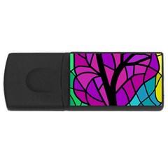 Decorative tree 2 USB Flash Drive Rectangular (2 GB)