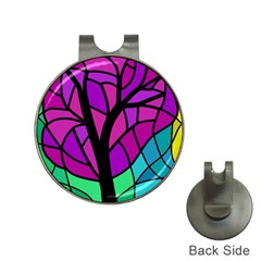 Decorative tree 2 Hat Clips with Golf Markers