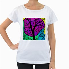 Decorative tree 2 Women s Loose-Fit T-Shirt (White)