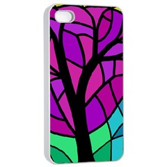 Decorative tree 2 Apple iPhone 4/4s Seamless Case (White)