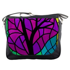 Decorative tree 2 Messenger Bags