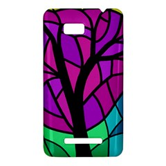 Decorative tree 2 HTC One SU T528W Hardshell Case