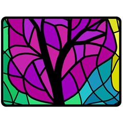 Decorative tree 2 Double Sided Fleece Blanket (Large)