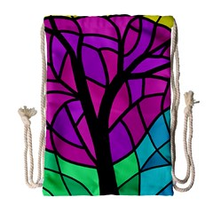 Decorative tree 2 Drawstring Bag (Large)