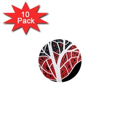 Decorative tree 3 1  Mini Magnet (10 pack)