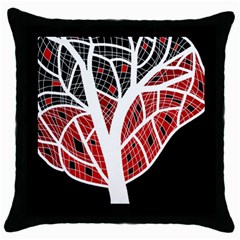 Decorative tree 3 Throw Pillow Case (Black)