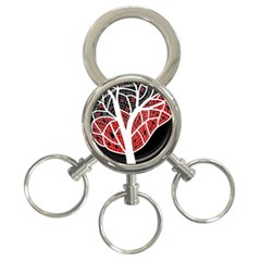 Decorative tree 3 3-Ring Key Chains