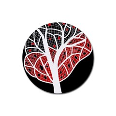 Decorative tree 3 Rubber Round Coaster (4 pack)