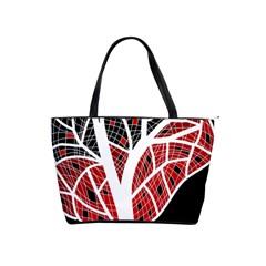 Decorative tree 3 Shoulder Handbags