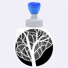 Decorative tree 3 Rubber Round Stamps (Large)