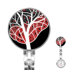 Decorative tree 3 Stainless Steel Nurses Watch