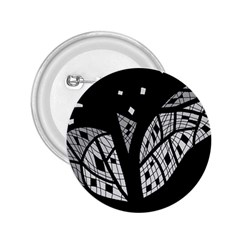 Black and white tree 2.25  Buttons