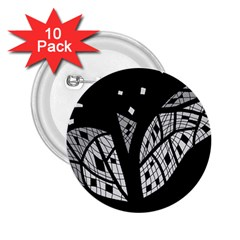 Black and white tree 2.25  Buttons (10 pack)