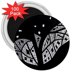 Black and white tree 3  Magnets (100 pack)