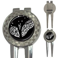 Black and white tree 3-in-1 Golf Divots