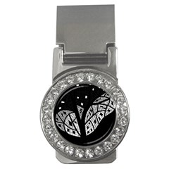 Black and white tree Money Clips (CZ)