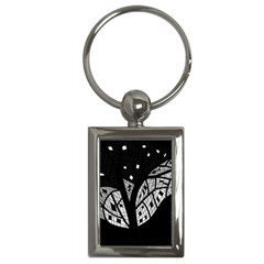 Black and white tree Key Chains (Rectangle)