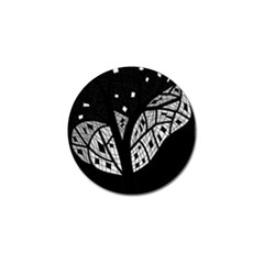 Black and white tree Golf Ball Marker