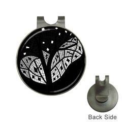 Black and white tree Hat Clips with Golf Markers