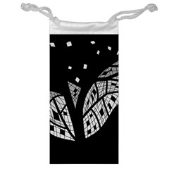 Black and white tree Jewelry Bags
