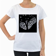 Black and white tree Women s Loose-Fit T-Shirt (White)