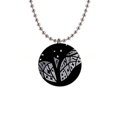 Black and white tree Button Necklaces