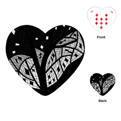 Black and white tree Playing Cards (Heart)