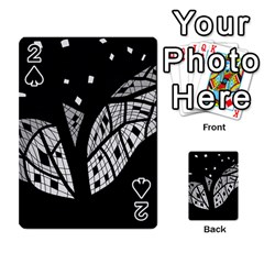Black and white tree Playing Cards 54 Designs