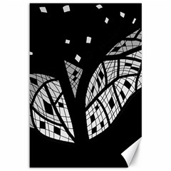 Black and white tree Canvas 12  x 18