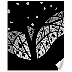Black and white tree Canvas 16  x 20