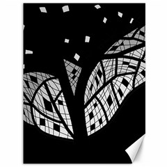 Black and white tree Canvas 36  x 48