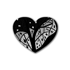 Black and white tree Heart Coaster (4 pack)