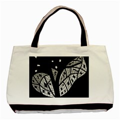 Black and white tree Basic Tote Bag (Two Sides)