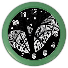 Black and white tree Color Wall Clocks