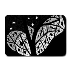 Black and white tree Plate Mats